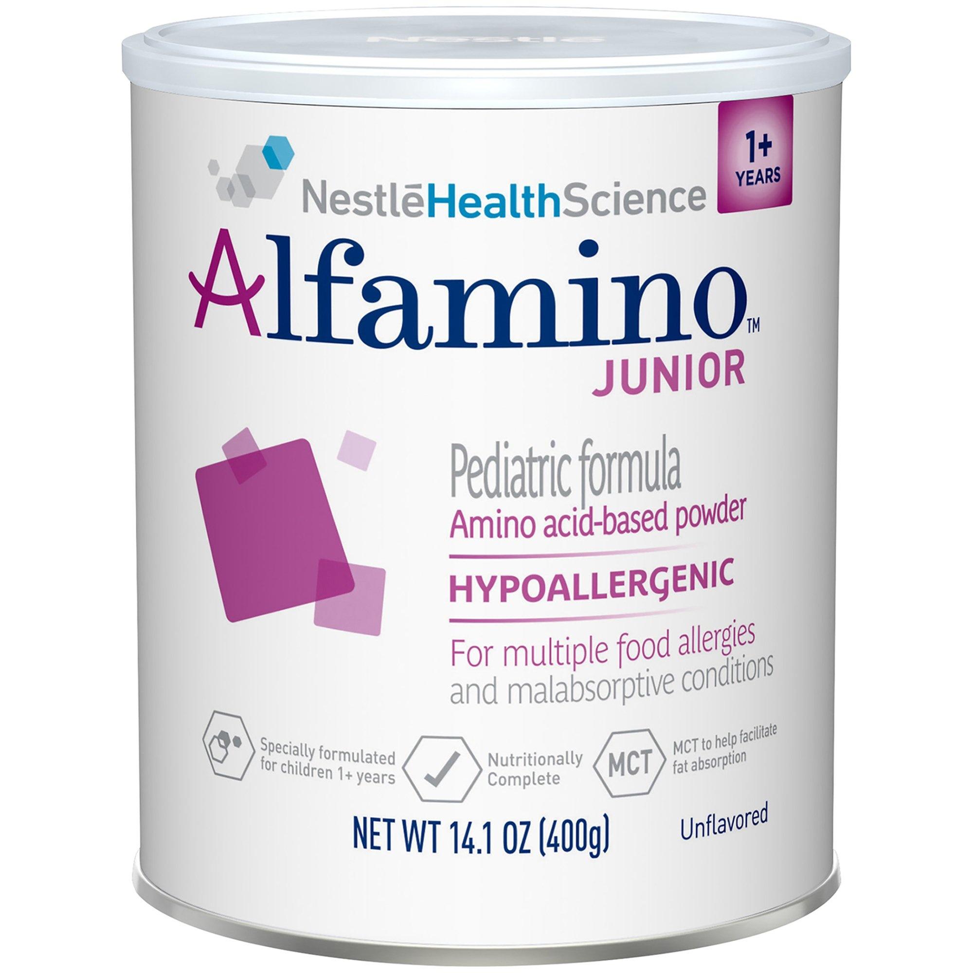 NestleHealthScience Alfamino Junior Pediatric Formula Amino Acid-Based Powder, 14.1 oz, 07613034787965, 1 Each