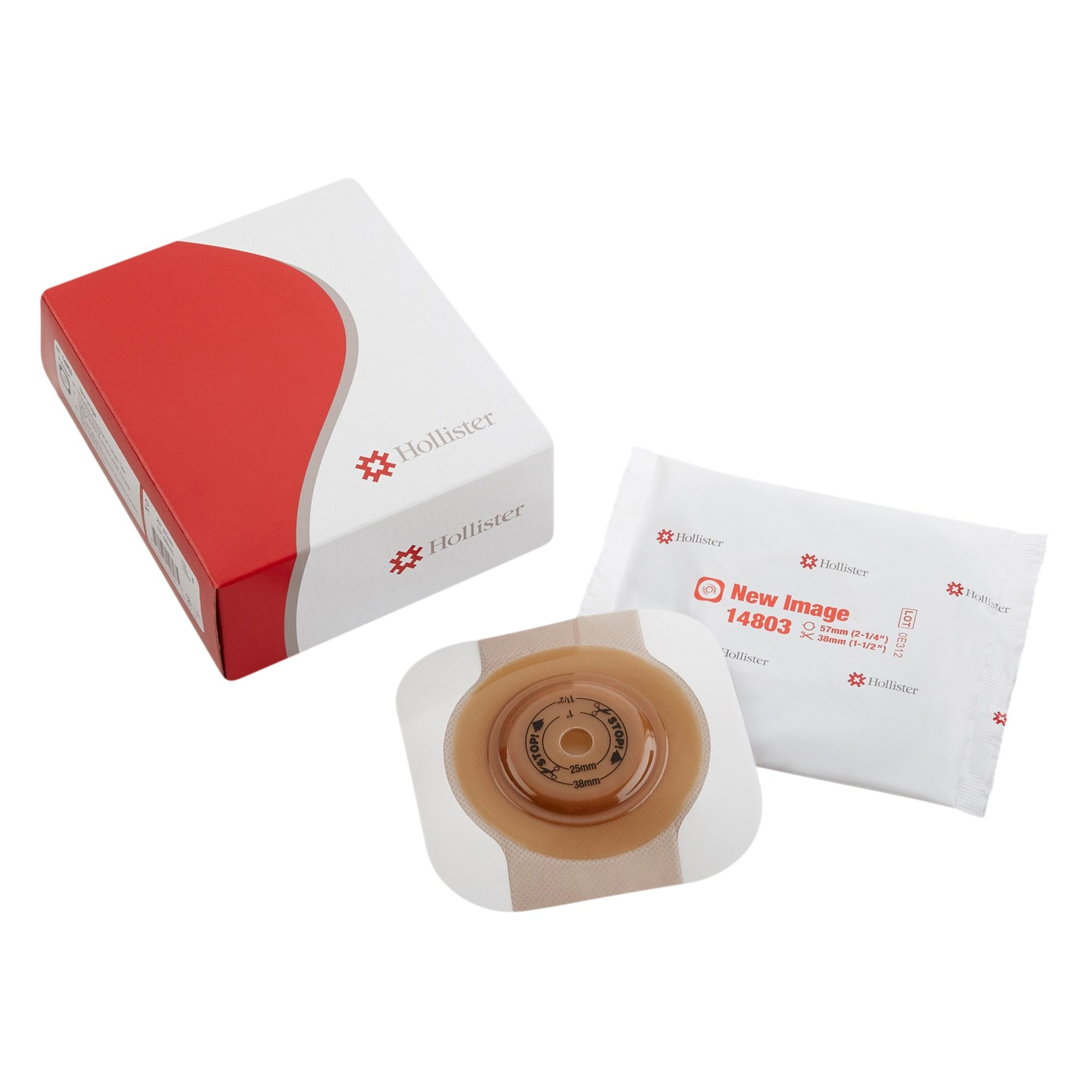 """Hollister FlexTend Ostomy Barrier, Trim to Fit, Extended Wear, 2.75"""", Fits Stomas up to 1.5"""", 14803, Box of 5"""