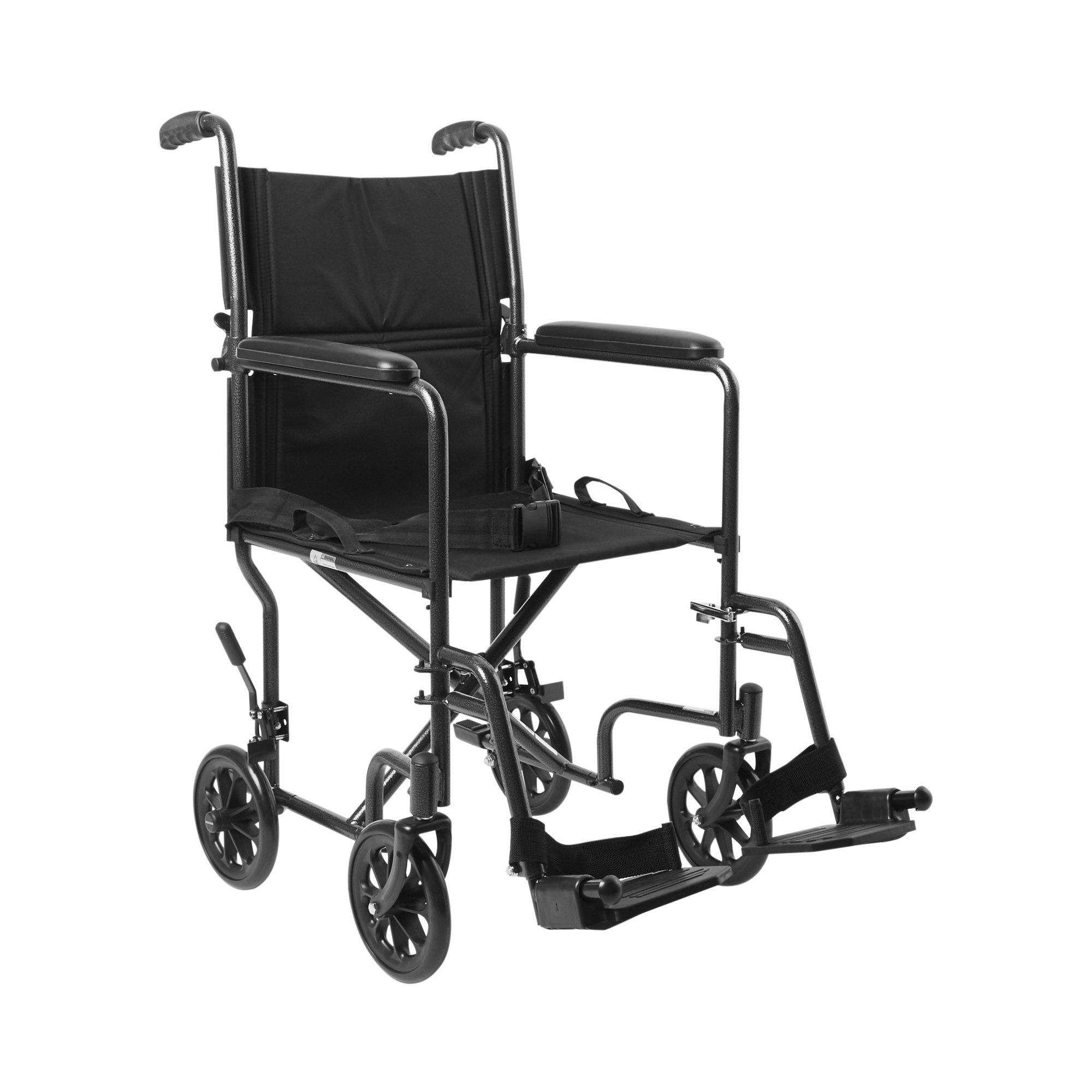 McKesson Lightweight Transport Chair, 146-TR39E-SV, 1 Each