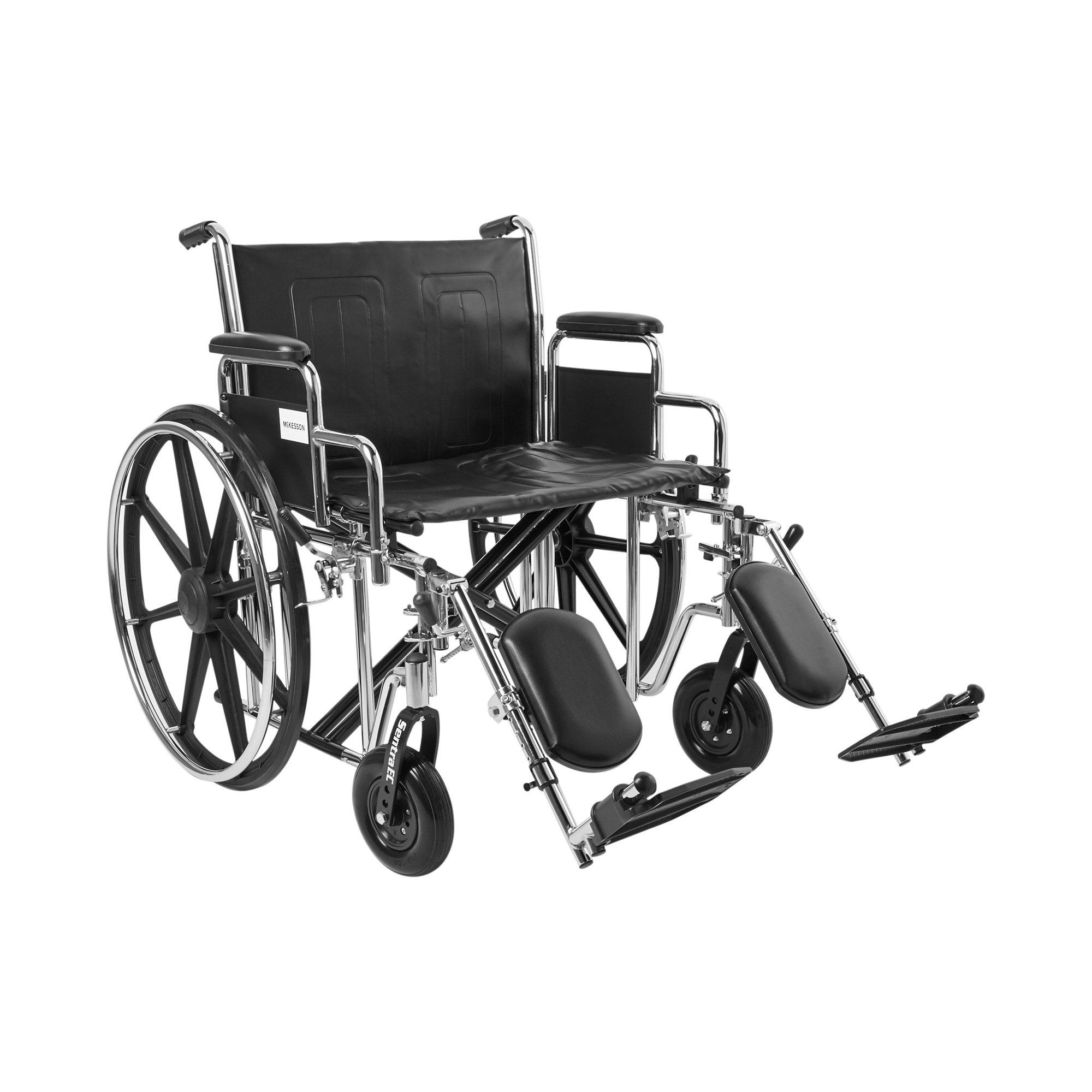 "McKesson Bariatric Wheelchair with Swing-Away Elevating Legrest, 146-STD24ECDDA-ELR, 24"" Seat - 1 Each"