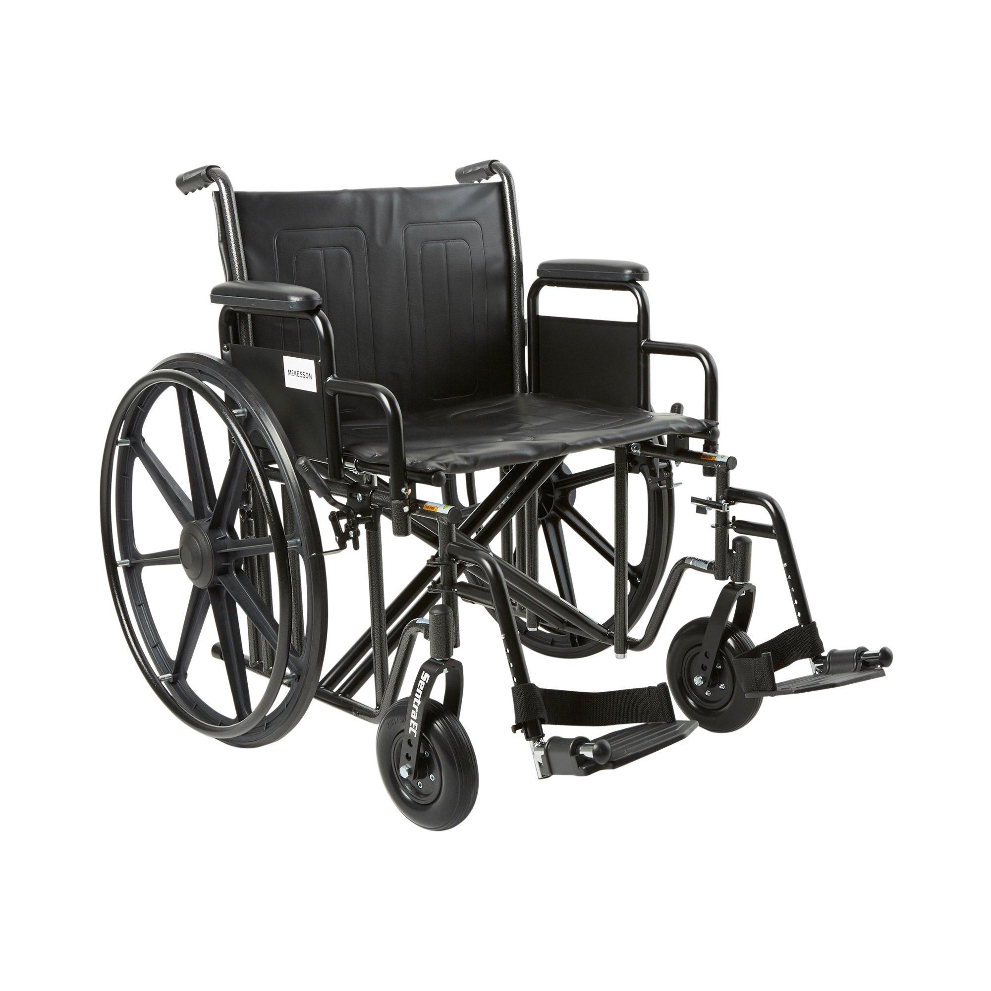 """McKesson Bariatric Wheelchair with Swing-Away Elevating Legrest, 146-STD22ECDDA-SF, 22"""" Seat - 1 Each"""