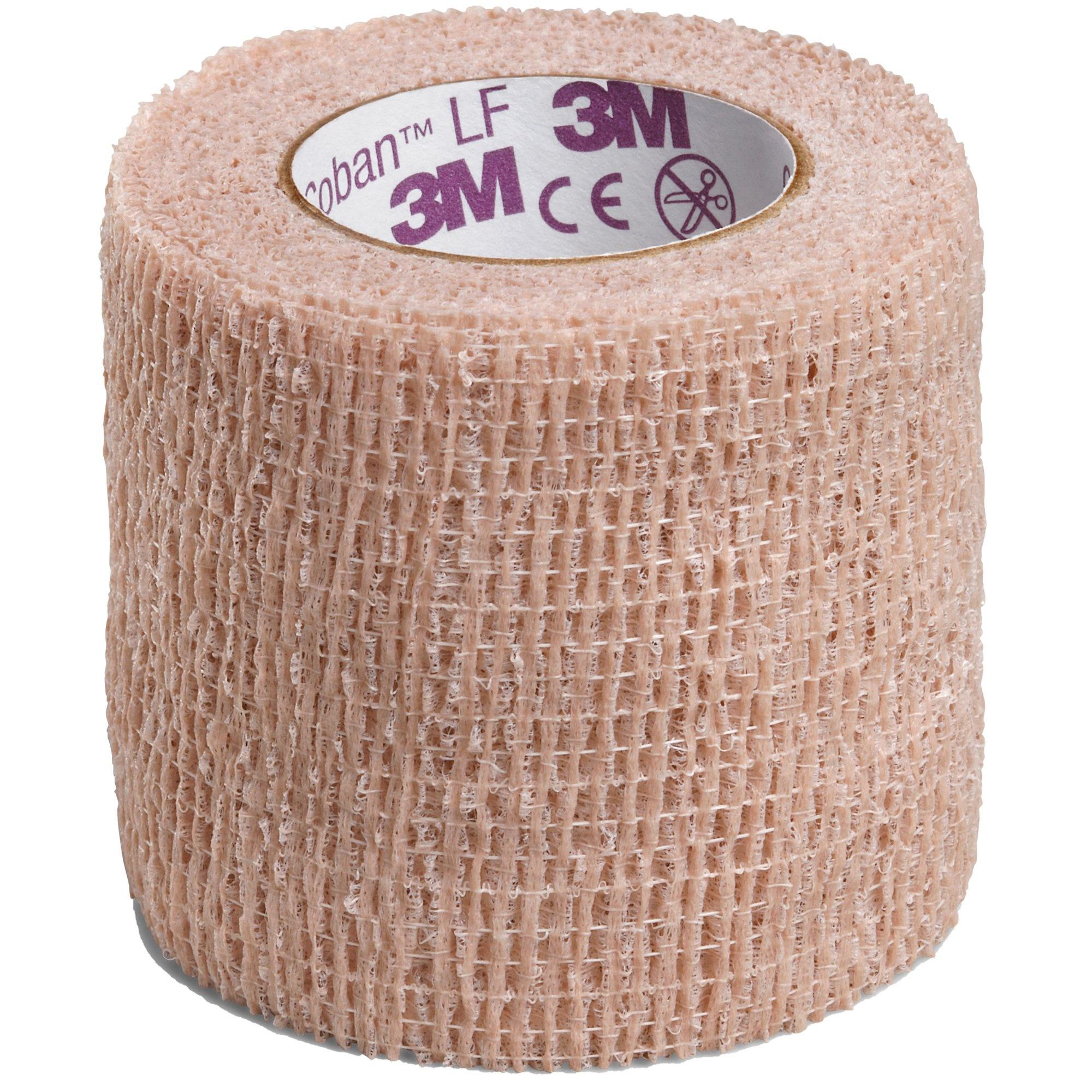 "3M Coban LF Cohesive Bandage, Standard Compression, Self-adherent Closure, 2"" X 5 yds, 2082, 1 Each"