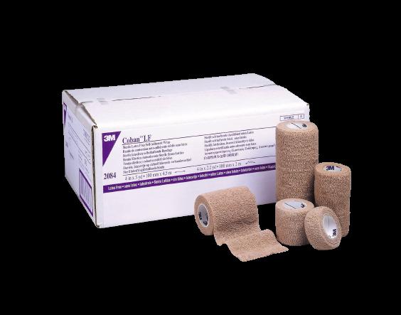 "3M Coban LF Cohesive Bandage, Standard Compression, Self-adherent Closure, 2"" X 5 yds, 2082S, Case of 36"