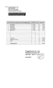 Genuine Smart Key 3W500 + ETC 4 for Agustine Marzano Vega
