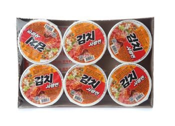 Korea Brand Kimchi Bowl Face Ramen  (86g*6)516g