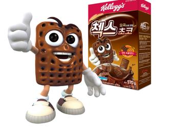 Korea Bran Keloggs  Choco made of five grains cereal  ( 570g)