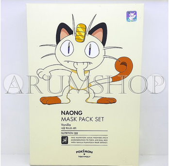 Tonymoly Pokémon Nauong Mask Pack Set