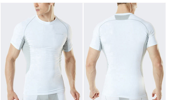 TSV Premium Functional Compression short sleeve shirts  White szXL