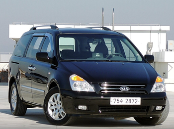 KIA MOTOR USED SUV GRAND CARNIVAL 2008 117000KM DIESEL RV 2902CC BLACK AUTO