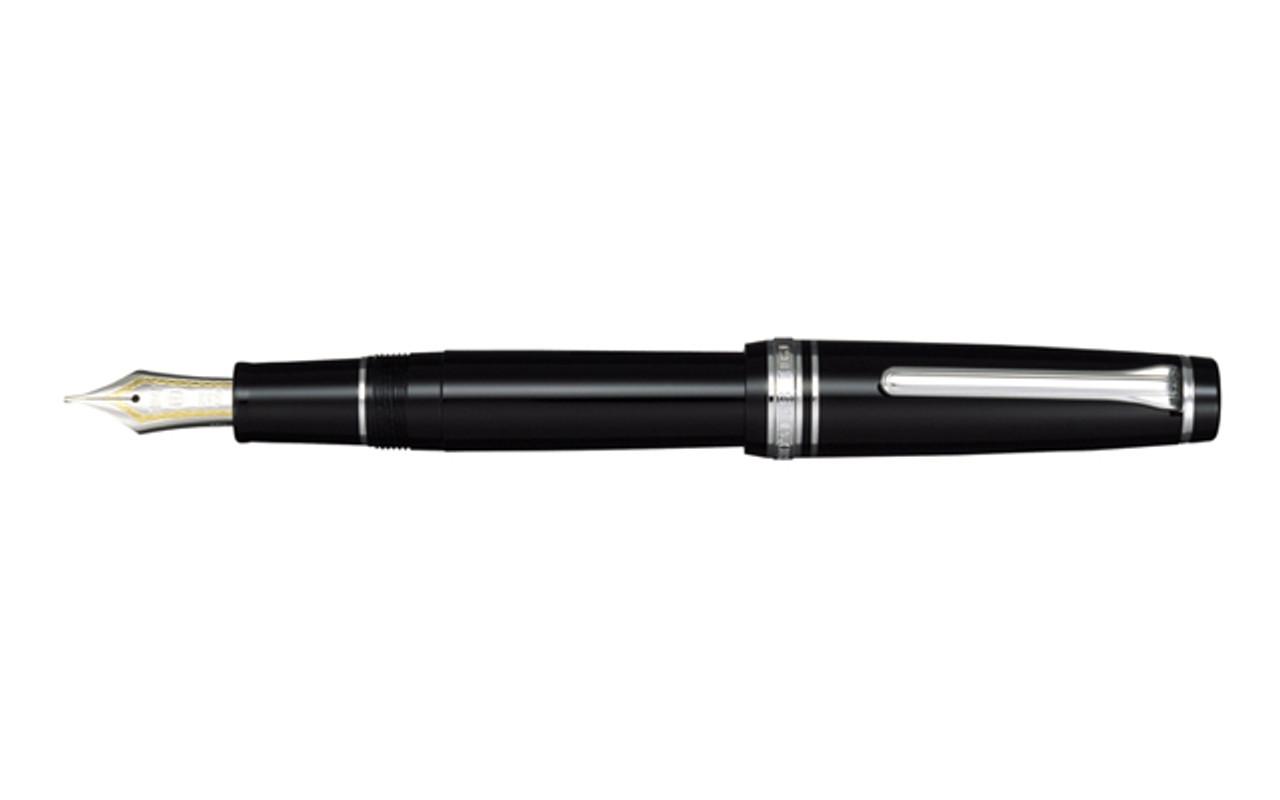 Sailor Professional Gear Black Silver Trim Fountain Pen