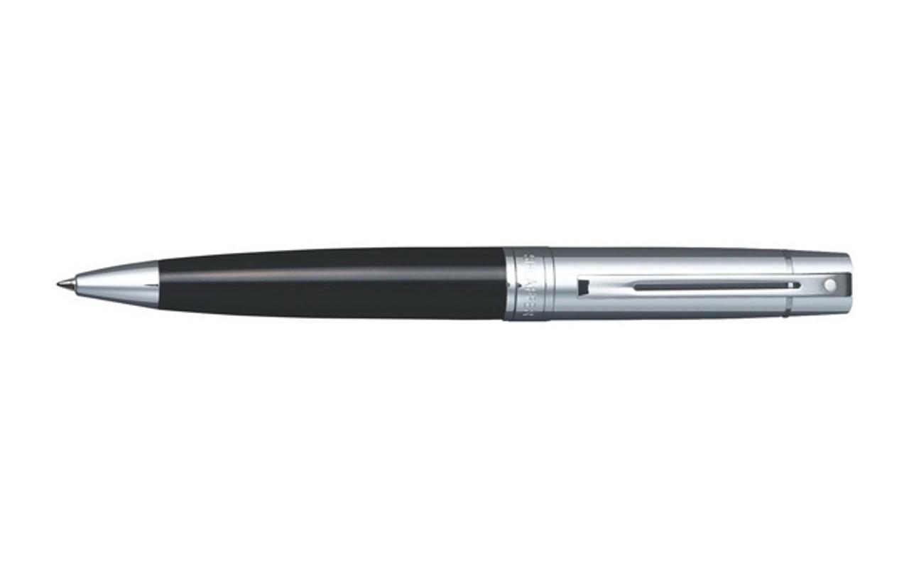 Sheaffer 300 Chrome Glossy Black Ballpoint Pen
