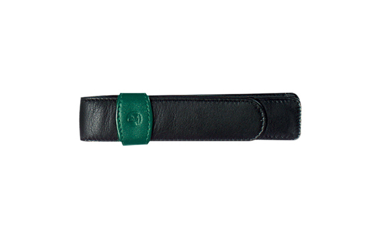 Pelikan Single Pen Green Black Leather Case
