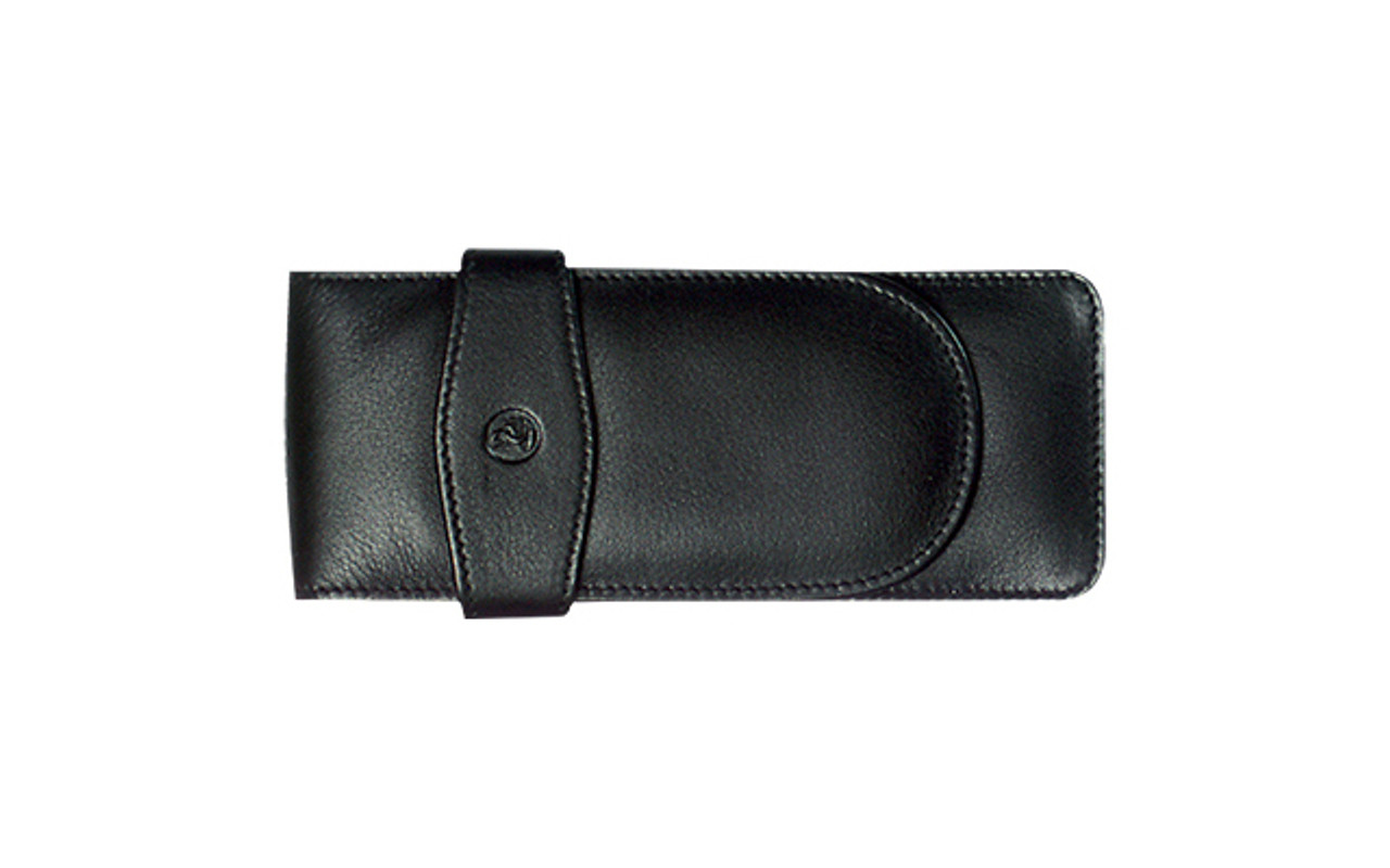 Pelikan Three Pens Black Leather Case