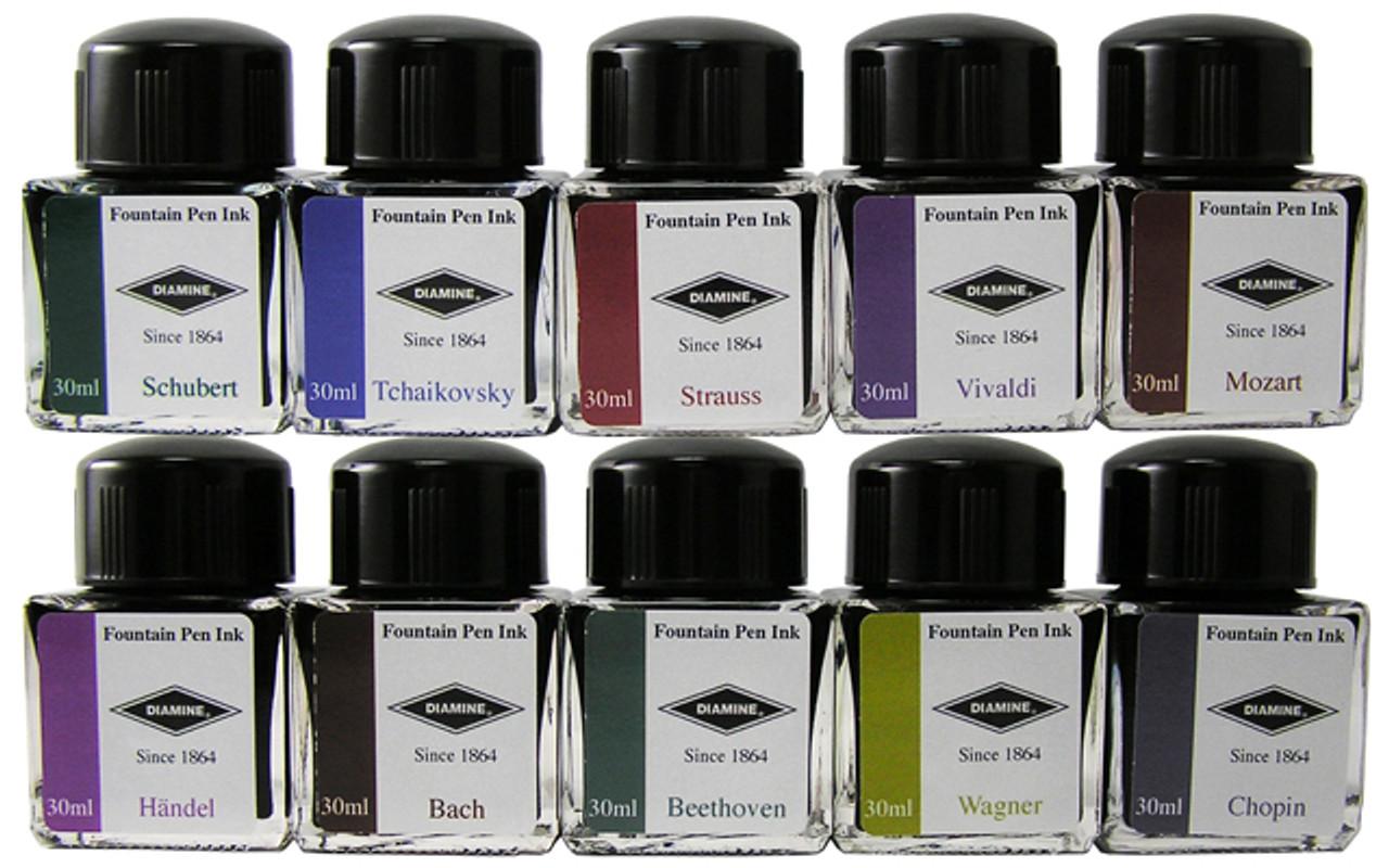 Diamine Fountain Pen 30ml Music Bottle Inks Collection