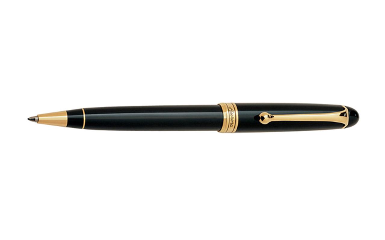 Aurora 88 Black Gold Plated Trim Ballpoint Pen
