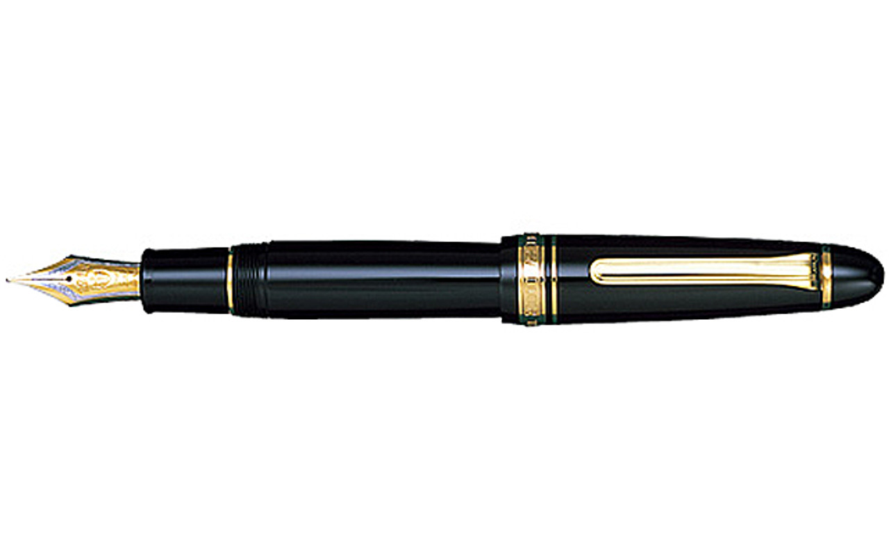 Sailor King Of Pen Profit Black Resin Gold Trim Fountain Pen