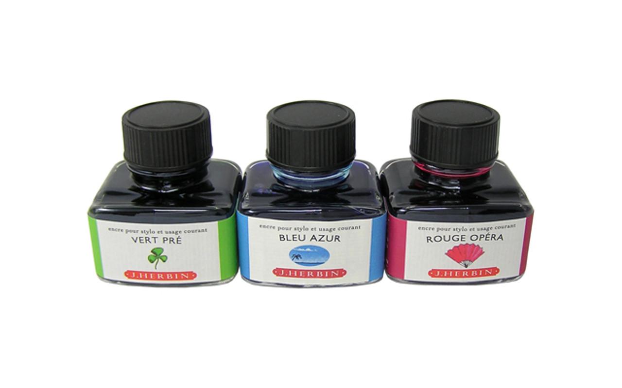J Herbin Fountain Pen The Jewel of Ink 30ml Bottle Ink Blue Azur