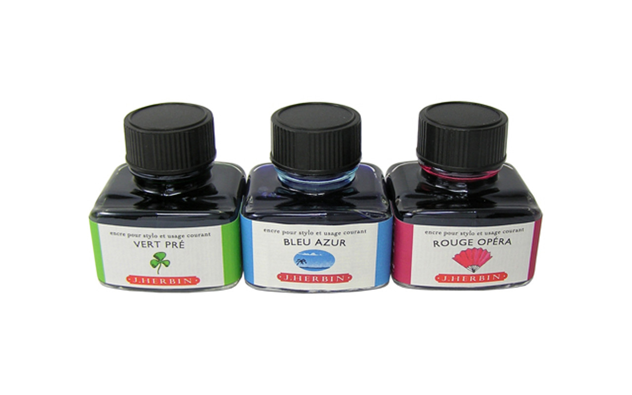 J Herbin Fountain Pen The Jewel of Ink 30ml Bottle Ink Bouton D'or