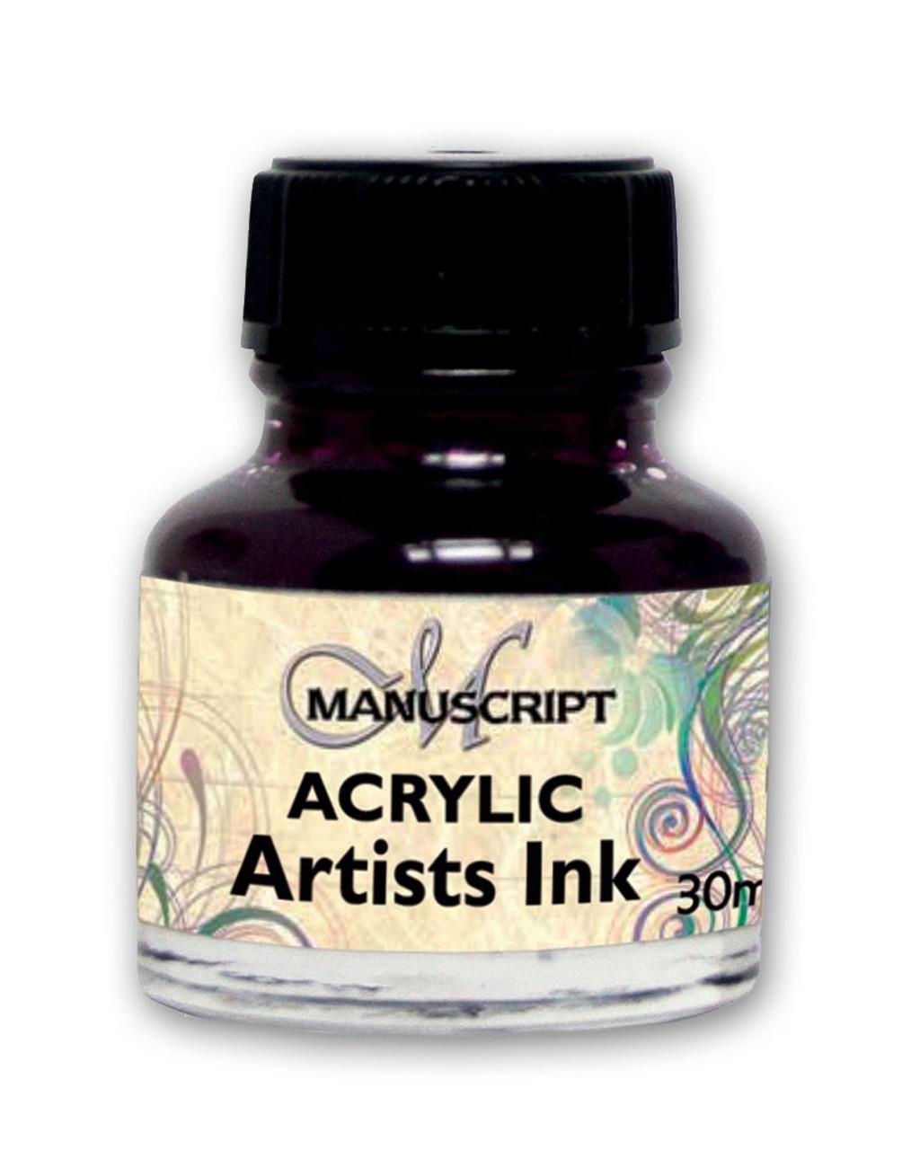 Manuscript 30ml Purple Artists Acrylic Ink Bottle