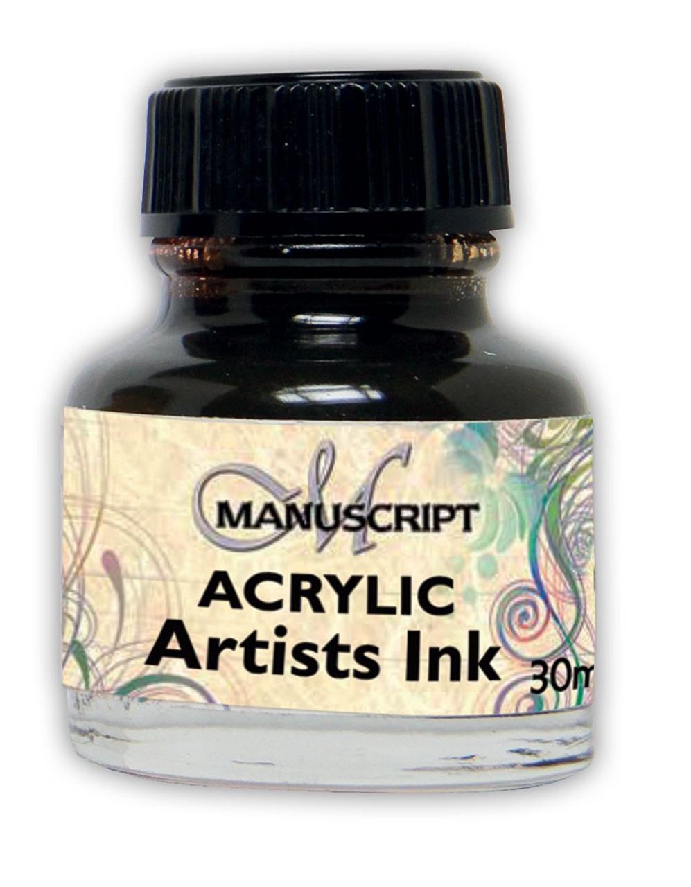 Manuscript 30ml Sepia Artists Acrylic Ink Bottle