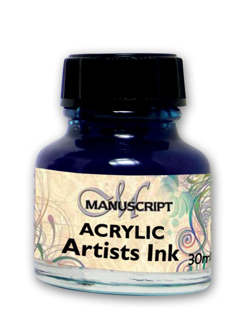 Manuscript 30ml Ocean Blue Artists Acrylic Ink Bottle