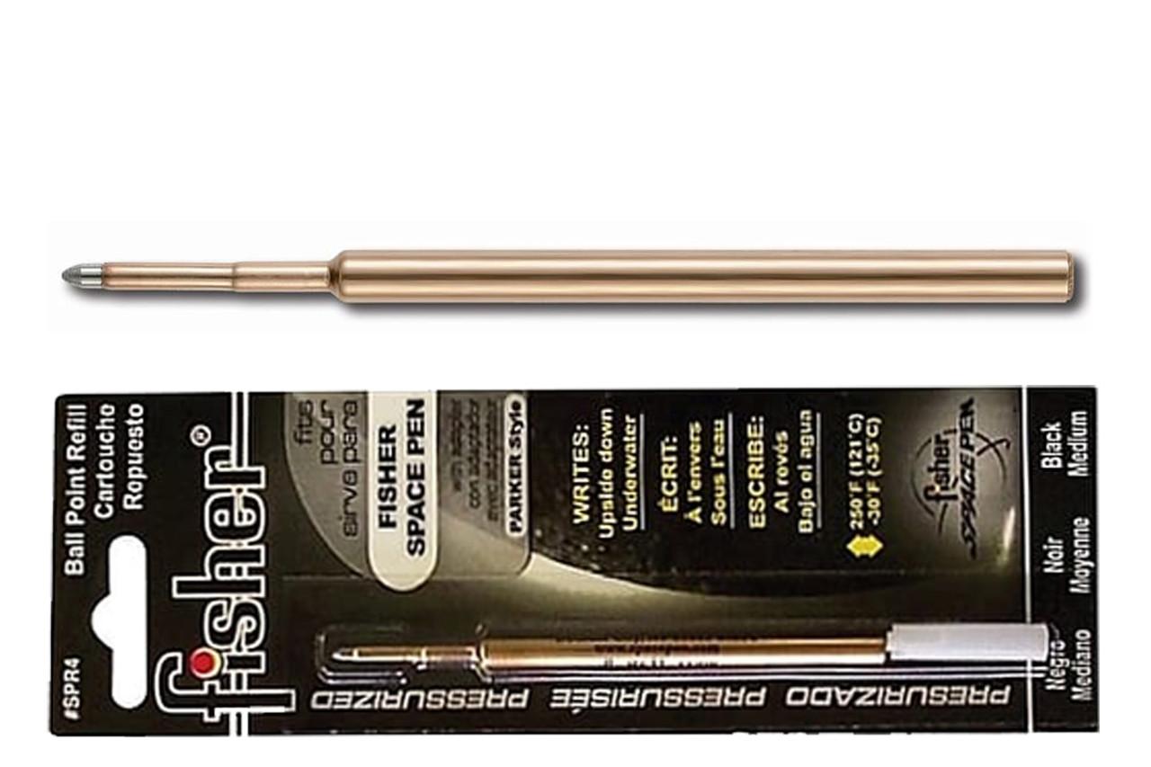 Fisher Space Pen Pressurized Cartridge Black Ballpoint Pen Refil SPR4