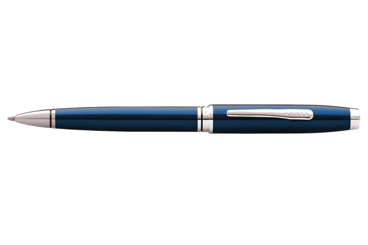 Cross Coventry Blue Lacquer Chrome Trim Ballpoint Pen
