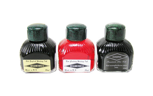 Diamine Fountain Pen 80ml Bottle Ink Midnight