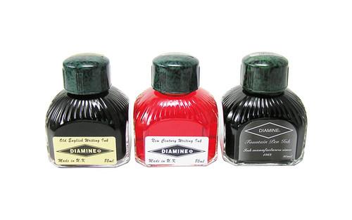 Diamine Fountain Pen 80ml Bottle Ink Quartz Black