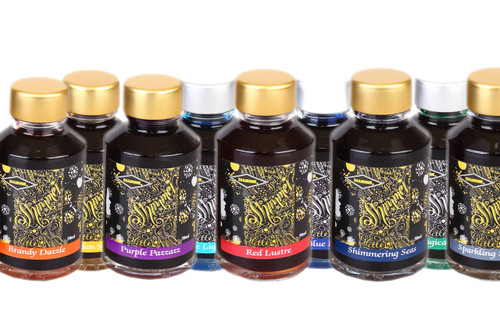 Diamine Fountain Pen Shimmering 50ml Bottle Ink Razzmatazz