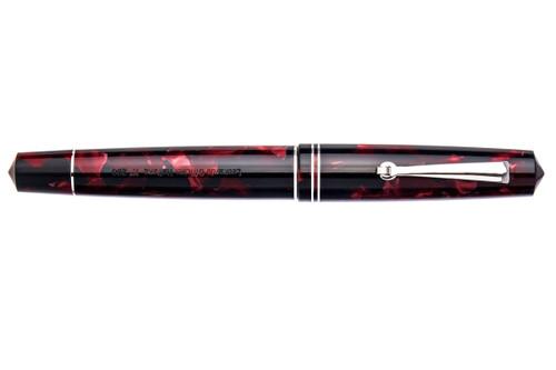 Leonardo Officina Italiana Momento Zero Marble Red Resin Fountain Pen