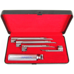 Disposable Miller Laryngoscope Kit with 4 Blades & Handle - Conventional
