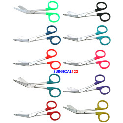 Bandage Scissors with Color Plastic Rings - Multiple Color Options