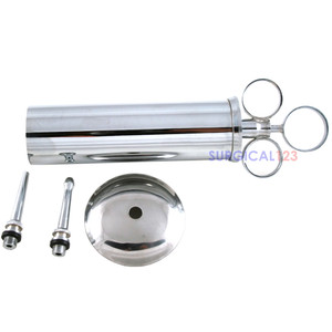 Ear Syringe with Nozzles Shield Chrome Plated