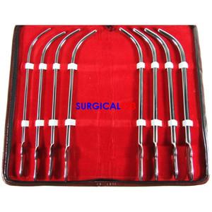 Van Buren Urethral Sounds Curved Kit of 8