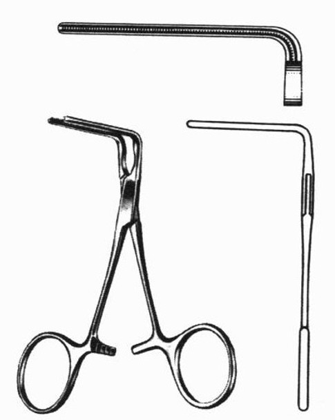 DeBakey Bulldog Clamps 90° Angle Jaws   Miltex Surgical Instruments