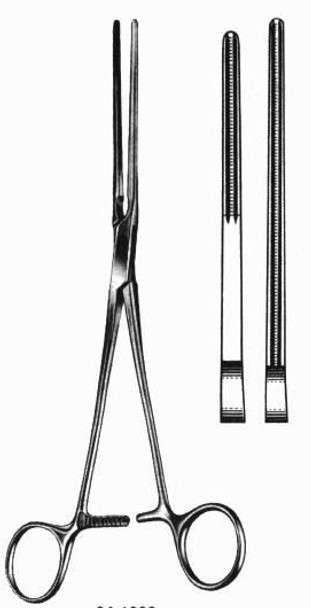 """Glover Patent Ductus Clamp 8"""" Straight Jaw"""