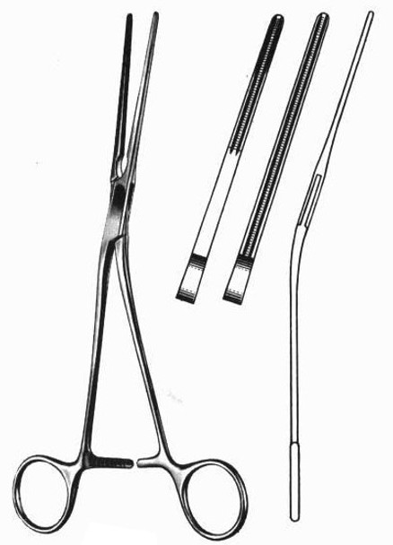 """Glover Patent Ductus Clamp 8"""" Angular Jaws"""