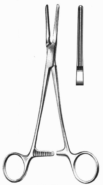 "DeBakey Patent Ductus Vascular Clamp 8"" Straight | Miltex Atraumatic Forceps"