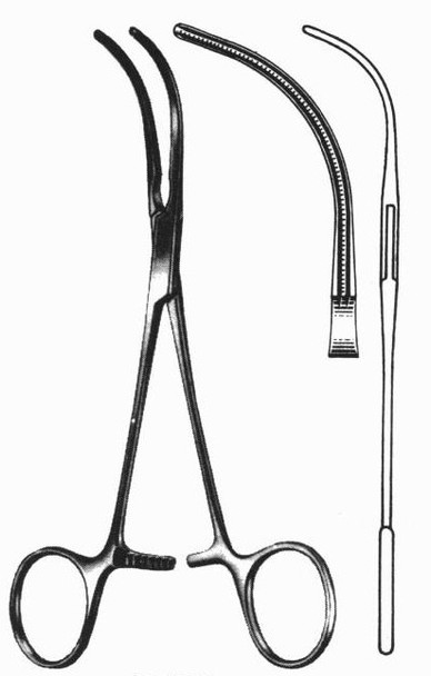 """DeBakey Vascular Clamp 6"""" Curved Jaws"""