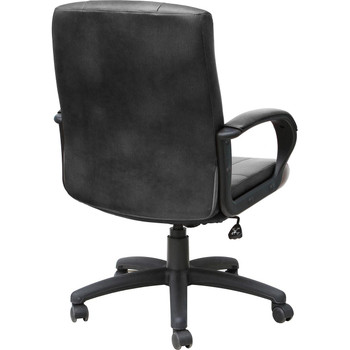 Black Vinyl Mid-Back Office Chair
