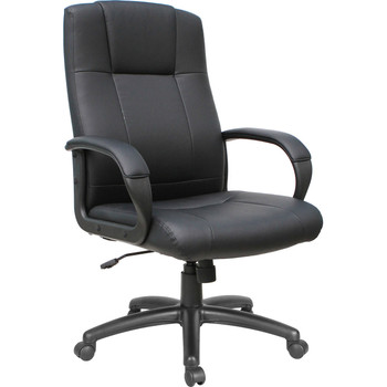 office furniture, vinyl office furniture, AQ-1001, Black vinyl High-Back Executive Office chair, vinyl high-back, vinyl high back, high back chair, high back office chair, high-back office furniture