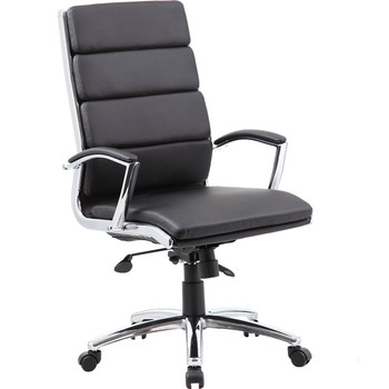 Black Vinyl Segmented Executive Office Chair B9471, B9471, Office chair, black office chairs, vinyl chair