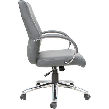 Express-Grey Pu Leather Executive Office Chair (BIFMA)