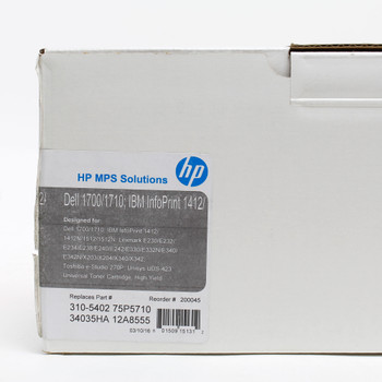 HP Black Return Program Toner Cartridge for Laser Printer 34015HA