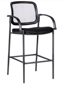 Black Mesh Back Bar Stool w/ Metal Frame