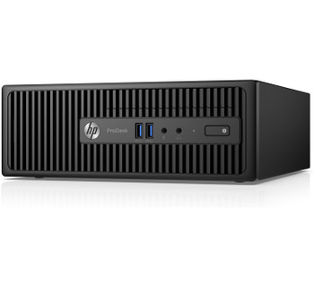 HP ProDesk 400 G3 Small Form Factor PC, Intel Core i3@3.7 GHz, 4 GB DDR4 RAM, Windows 10 (Renewed)