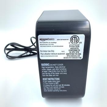 AmazonBasics 500w Small Personal Mini Heater DQ1722.Alfredo820-G1 (Renewed)