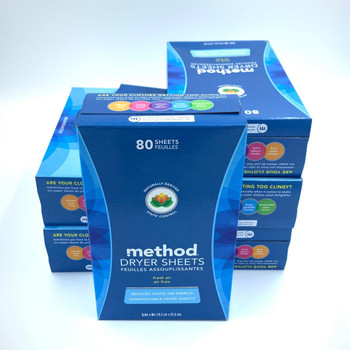 Method Dryer Sheets Fresh Air 80 Sheets 6ct Used 10817939019204