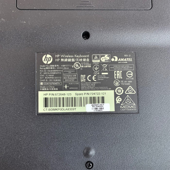 HP keyboard wireless with dongle 724722-121 (Renewed)